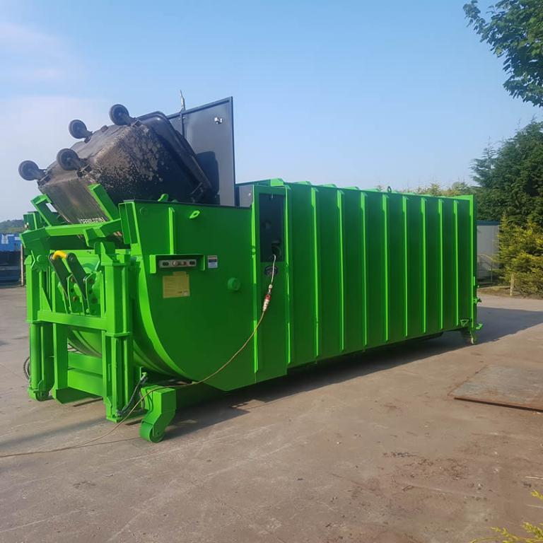 Bergmann Roll On Compactor with bintipper